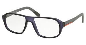 Prada Sport PS 05GV UFJ1O1 TRANSPARENT BLUE RUBBER