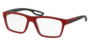 Prada Sport PS 07FV UAR1O1 TOP RED RUBBER ON GREY