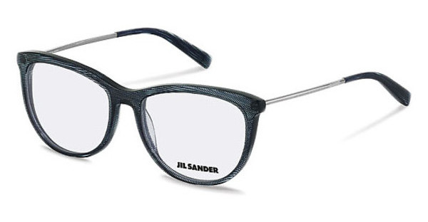 Jil Sander J4012 C blue structured, palladium