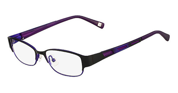 MarchonNYC M-JANE 001 SATIN BLACK PURPLE