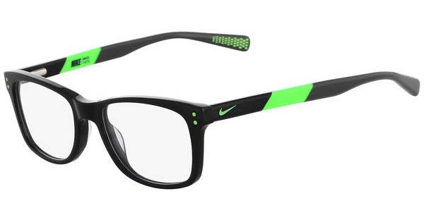 Nike NIKE 5538 001 BLACK-FLASH LIME