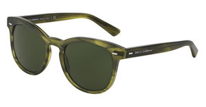 Dolce & Gabbana DG4254 296571 GREY GREENMATTE STRIPED OLIVE GREEN