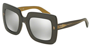 Dolce & Gabbana DG4263 29596G LIGHT GREY MIRROR SILVERTOP GREY ON GOLD