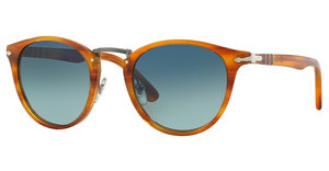 Persol PO3108S 960/S3 LIGHT BLUE GRAD DLUE POLARSTRIPED BROWN