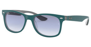 Ray-Ban Junior RJ9052S 703419 CLEAR GRADIENT LIGHT BLUETOP MATTE TORQUOISE ON GREY