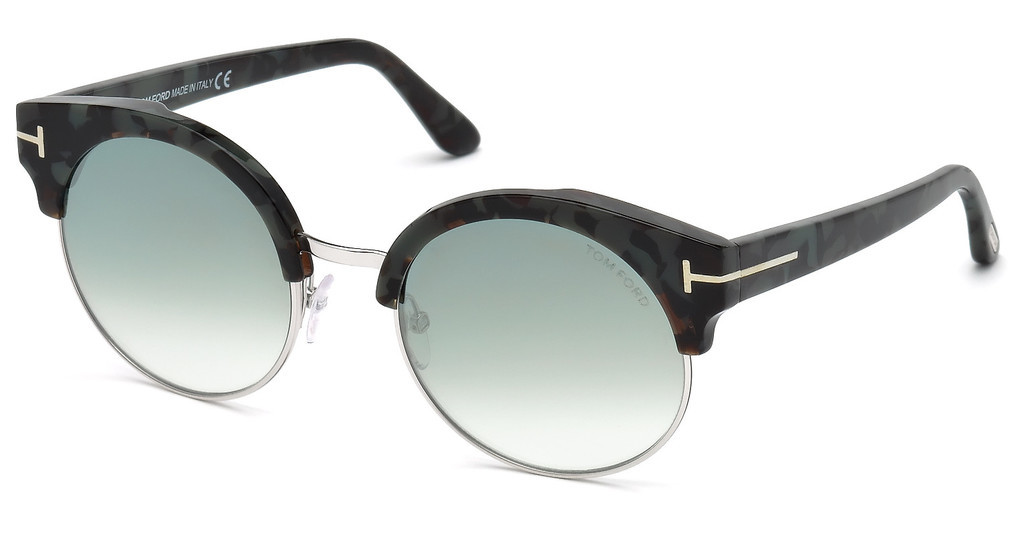 Tom Ford   FT0608 55X blau verspiegelthavanna bunt