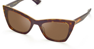 DITA DTS-513 02 Dark Brown - ARDark Tortoise-Burnt Brown Back - White Gold