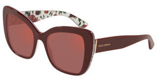Dolce & Gabbana DG4348 3202D0 DARK VIOLET MIRROR REDBORDEAUX ON ROSE AND PEONY