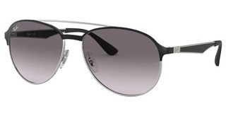Ray-Ban RB3606 90918G GREY GRADIENT DARK GREYSILVER ON TOP MATTE BLACK