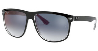 Ray-Ban RB4147 6039X0 CLEAR GRADIENT BLUE MIRROR REDTOP BLACK ON TRANSPARENT