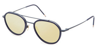 Thom Browne TB-801 E Dark Brown - Gold Mirror - ARMatte Navy-Navy