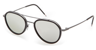Thom Browne TB-801 F Dark Grey- Silver Mirror - ARBlack Iron-Black