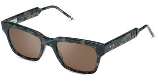 Thom Browne TBS418 03 Dark Brown - ARNavy Tortoise