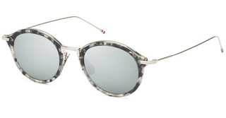 Thom Browne TBS908 03 Dark Grey - Silver Flash Mirror - ARGrey Tortoise - Silver