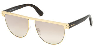 Tom Ford FT0570 28G braun verspiegeltrosé